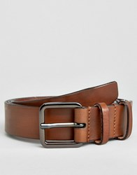 Selected Homme Belt Leather Brown