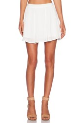 1. State Wide Pleat Skirt White