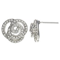 John Lewis Rose Stud Earrings Silver
