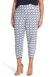 Plus Size Women's Bb Dakota 'Albi' Print Crop Pants Multi