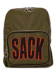 House Of Holland 'Sack' Backpack Green