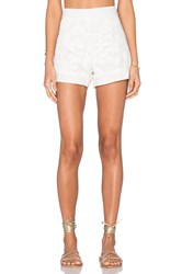Aguadecoco Lace Short Cover Up White