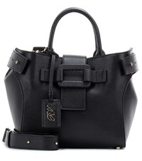 Roger Vivier Pilgrim De Jour Small Leather Shoulder Bag Black