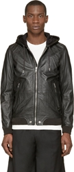 Diesel Black Leather L Akura Hoodie