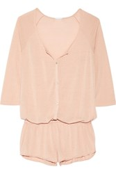 Eberjey Afternoon Delight Pointelle Knit Playsuit Blush