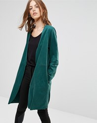 Minimum Amani Drapey Jacket In Teal 2146826246 Green