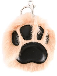 Stella Mccartney Faux Fur Paw Charm Pink Purple