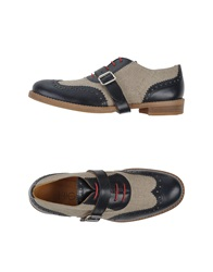 High Lace Up Shoes Dark Blue