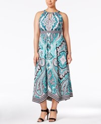Inc International Concepts Plus Size Handkerchief Hem Halter Dress Only At Macy's Couture Paisley