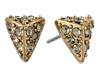 House Of Harlow Pav Triangle Studs Gold Tone Earring