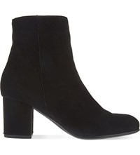 Carvela Subtle Suede Ankle Boots Black