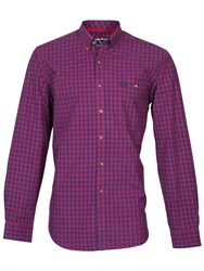 Raging Bull Small Check Shirt Red