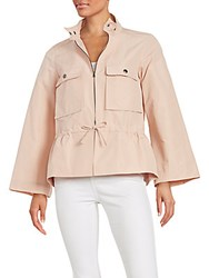 Jil Sander Peplum Safari Jacket Rose