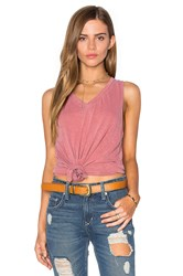 Stateside Supima Slub Jersey V Neck Tank Rose