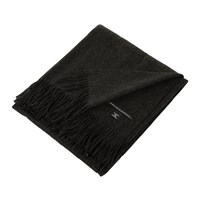Sofia Cashmere Trentino 2 Ply Fringed Throw Charcoal