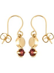 Wouters And Hendrix 'Playfully Precious' Garnet Earrings Metallic