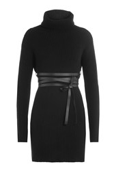 Valentino Virgin Wool Turtleneck Pullover With Cashmere Black