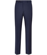 Austin Reed Stripe Slim Fit Suit Trousers Blue
