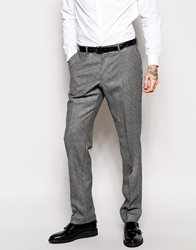Peter Werth Puppytooth Suit Trousers In Slim Fit Grey