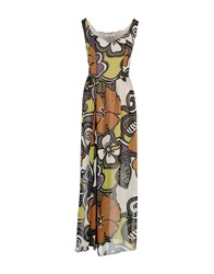 Angela Mele Milano Dresses Long Dresses Women Beige