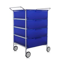 Kartell Mobil 4 Drawer Handles And Wheels Cobalt