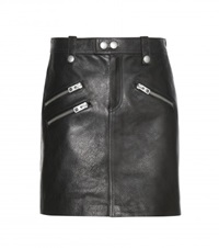 Coach Leather Skirt Black