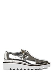 Pre Ss16 Stella Mccartney Odette Metallic Brogues Silver