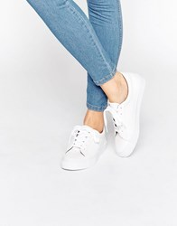 Asos Diaz Lace Up Trainers White