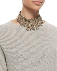 Beaded Fringe Choker Necklace Brunello Cucinelli