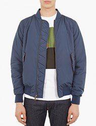 Saturdays Surf Nyc Blue Quilted Bomber Jacket