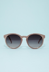 Forever 21 Circular Frame Sunglasses Nude Gold