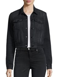 J Brand Black Capsule Harlow Washed Trucker Jacket Hectic