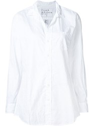 Frank And Eileen 'Shirley' Creased Shirt White