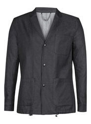 Topman Street Tailor Charcoal Relaxed Fit Blazer Grey