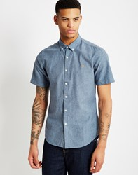 Farah Steen Slim Short Sleeve Button Down Navy