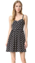 Amanda Uprichard Champagne Dress Polka Dot