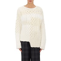 Tomorrowland Women's Cable Knit And Boucle Sweater White