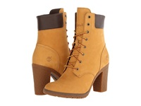 Timberland Earthkeepers Glancy 6 Boot Wheat Nubuck Women's Dress Lace Up Boots Tan