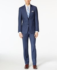 Calvin Klein X Fit Navy Solid Extra Slim Fit Suit