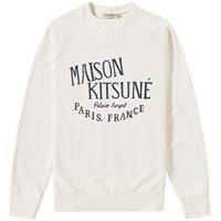 Maison Kitsune Palais Royal Crew Sweat White