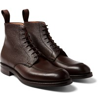 Cheaney Richmond Pebble Grain Leather Boots Dark Brown