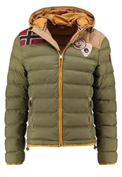 Napapijri Aerons Heritage Winter Jacket Green Way Khaki