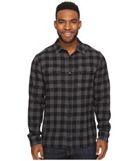 Rip Curl Kingsford Long Sleeve Flannel Charcoal Men's Long Sleeve Button Up Gray