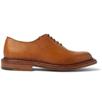 Grenson Triple Welted Grained Leather Oxford Shoes Brown