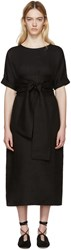 Studio Nicholson Black Linen Sistina Dress