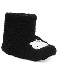 Hello Kitty Faux Sherpa Slipper Boots Black