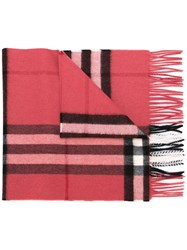 Burberry Checked Scarf Pink And Purple