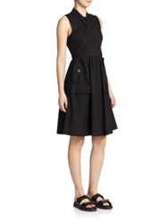 Marc By Marc Jacobs Cotton Utility Prom Dress White