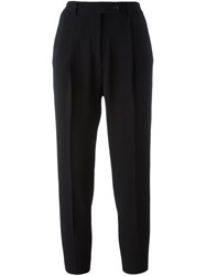 Eleventy Cropped Tailored Trousers Black