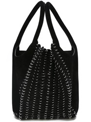 Paco Rabanne Chain Mail Detail Tote Black